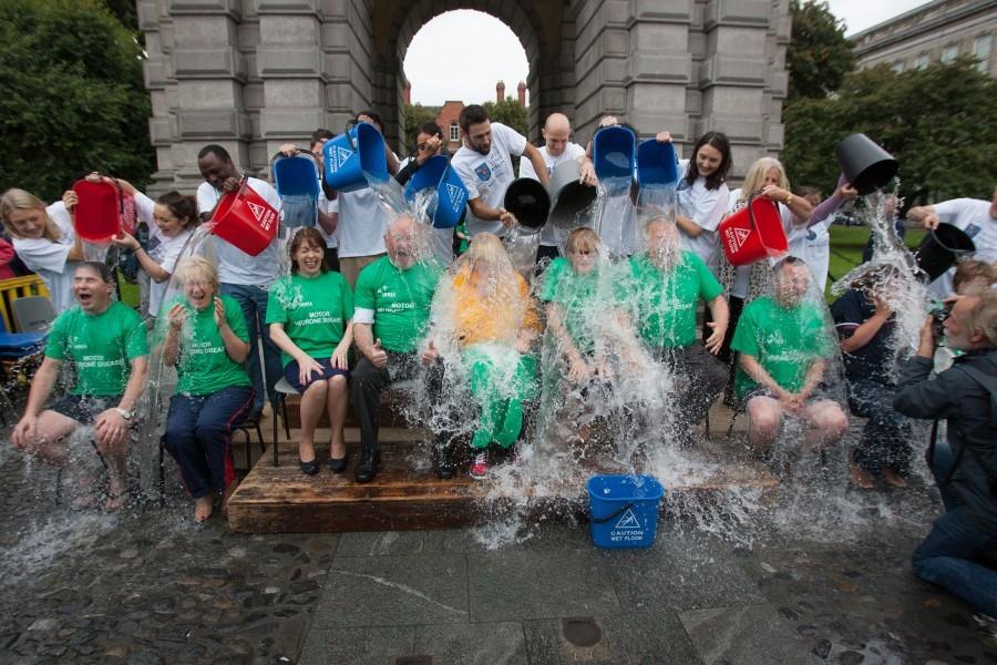 MND/ALS Ice Bucket Challenge in Trinity College Dublin 01-09-14